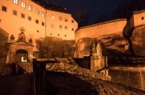 Hauptportal der Festung Königstein im Elbsandsteingebirge.