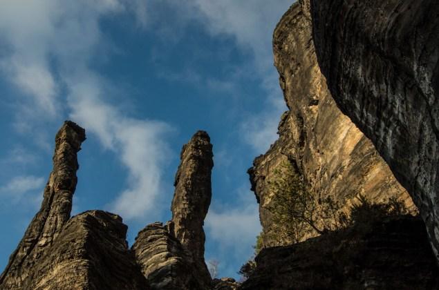 Die Säulen des Herkules in der sächsischen Schweiz.