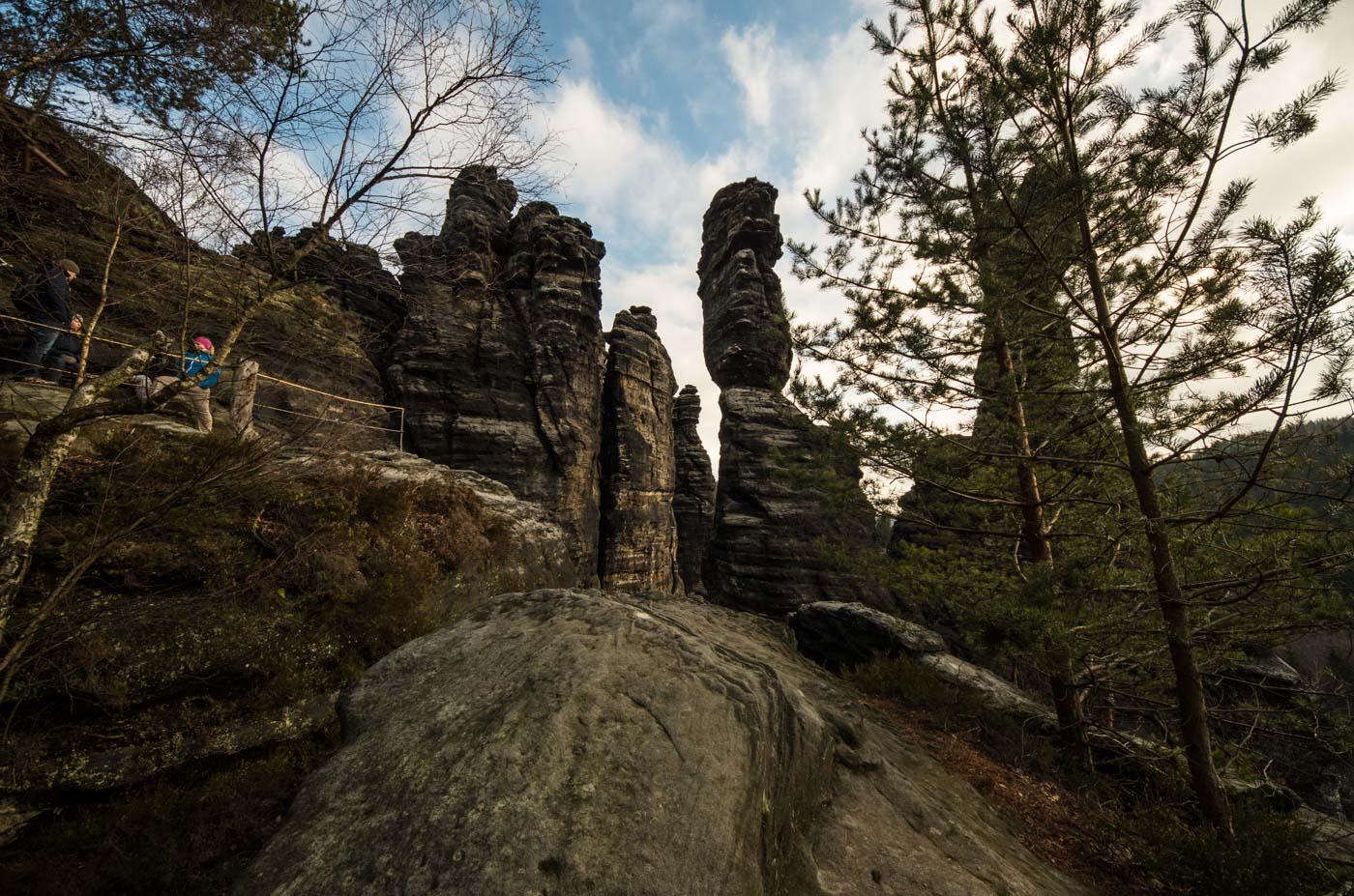 Felsnadeln oberhalb von Schweizermühle/Bielathal