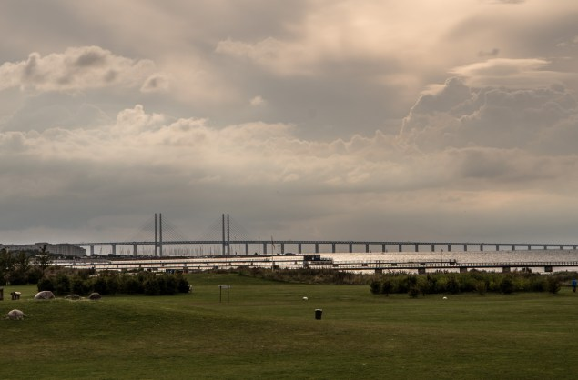 Öresund bridge connection Denmark and Sweden over 15 km of the open Baltic Sea.