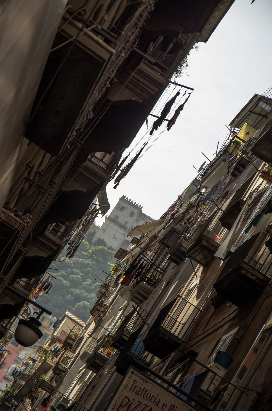 View on a castello in Naples