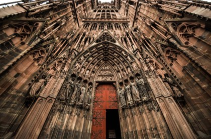 The cathedral in Strasbourg was the highest building in Europe for 100s of years.