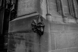 Sad gargoyle in Strasbourg