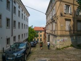 Residential street in Trieste
