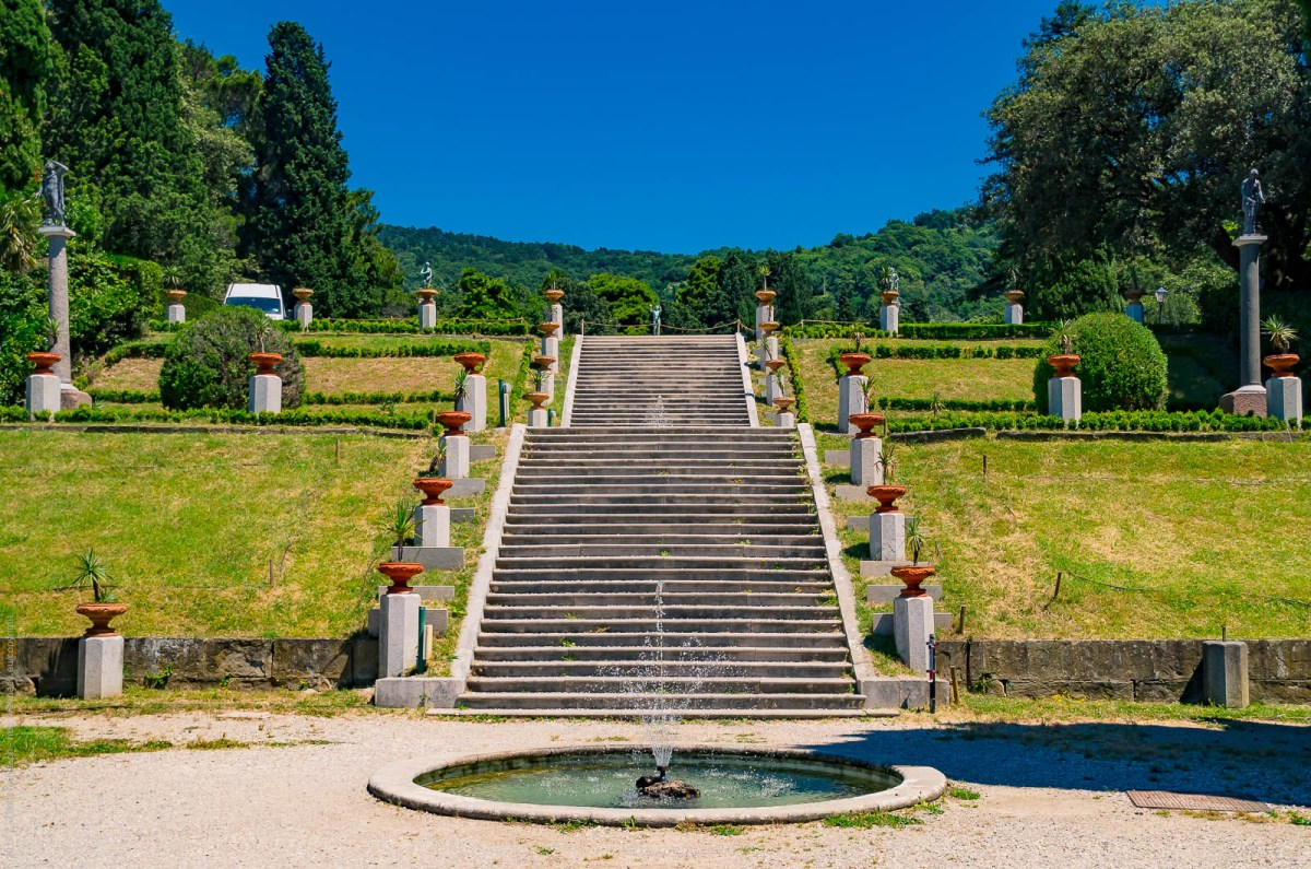 The park of Castello di Miramare