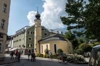church with onion dome in Lienz, Osttirol