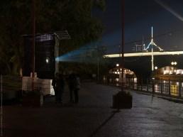 projector at Berlin Festival of Lights 2017