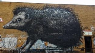 Mural: hedgehog by ROA