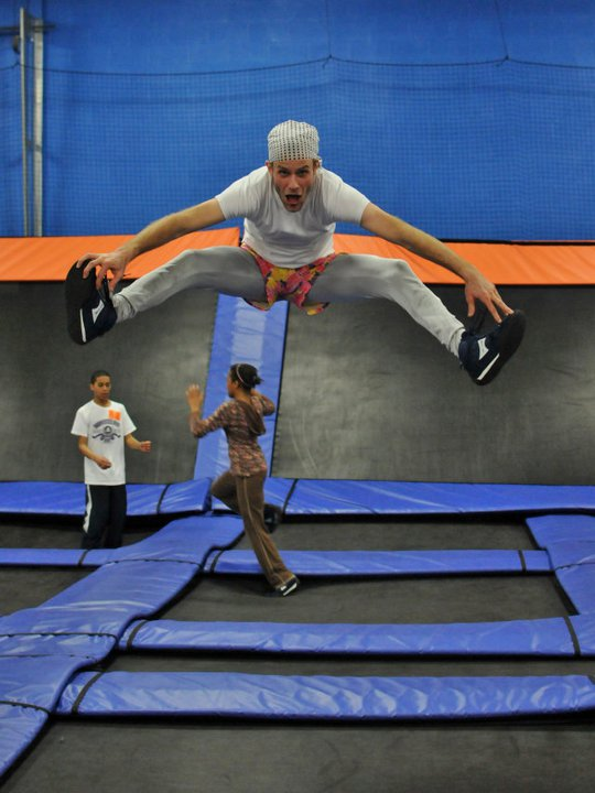 There was just one problem. John was a city boy. The only thing he was good at was jumping on his trampolin!