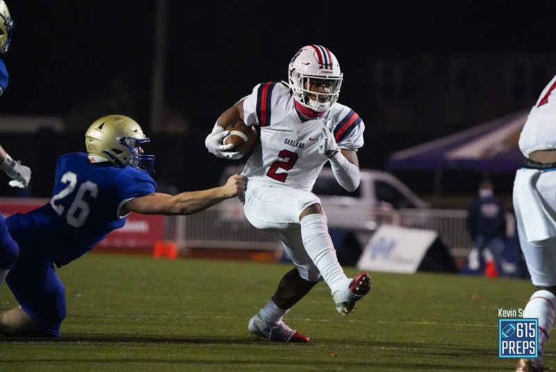 Jordan James closed 2020 with a six-touchdown barrage in the 6A title game. The Patriots' standout runner returns for his senior season in 2021, which includes Oakland's Spotlight Game against CPA on Oct. 7.