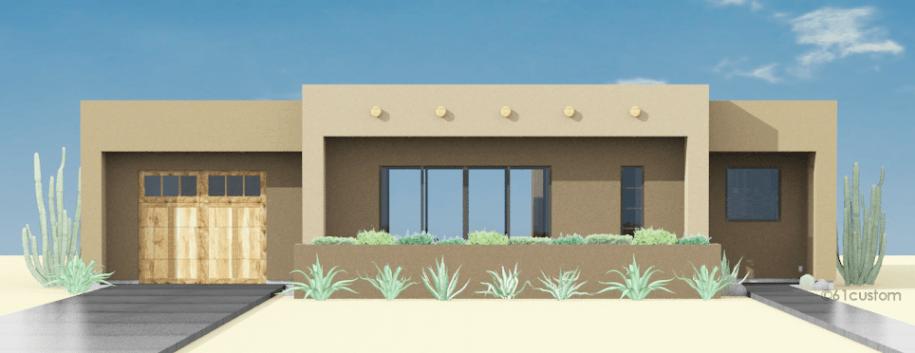 Contemporary Adobe House Plan | 61custom | Contemporary ...