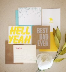 hell yeah, best dad ever, congrats, new baby, fall, fall collection, subscription, subscribe, subscription box, great gift, gift idea, easy gift idea, deliver, special delivery, unique gift, inspiration, gift subscription, card, stationery, greeting card, birthday card, congratulations card, letterpress, letterpress card, script, calligraphy, brush lettering, modern, modern calligraphy, modern lettering, lead type, wood type, handmade, small business, maker, artisan, artist, etsy, cotton, cotton paper, high end card, high end stationery, wedding, wedding card, curated, curated collection, simple, modern