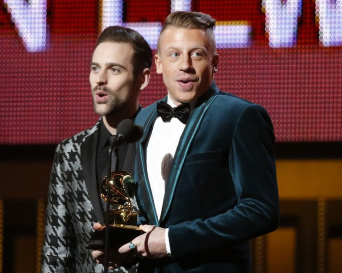 Macklemore and Ryan Lewis win the award for Best New Artist at the 56th annual Grammy Awards, without major label support. Mario Anzuoni/Reuters