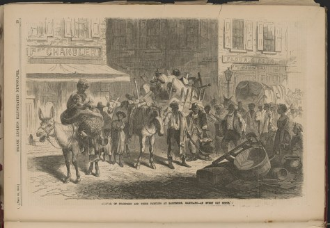 Arrival of freedmen and their families at Baltimore, Maryland