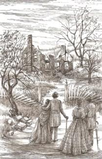 The ruins of Douglass's home.