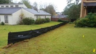 Silt fence down left property line