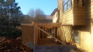 Basement addition from side