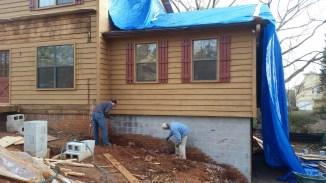 Removing original brick