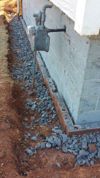 Left side - all brick gone!
