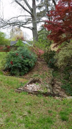 Ditch from walkway