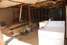 Furring ceiling in Basement