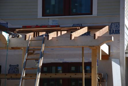 Front Porch rafters in place