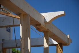 Corbelled beam notched into 10x10