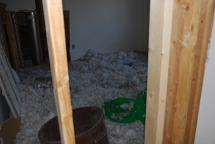 Old attic insulation - now on the ground
