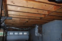 Drywall ceiling all gone - make way for mechanicals