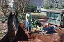 Digging a mini-detention/silt pond