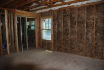 New R-13 exterior insulation in Master Bedroom