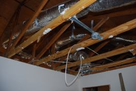 New ducts in the attic