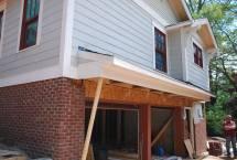 Roof framed and trimmed