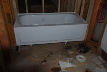 new tubs in upstairs baths