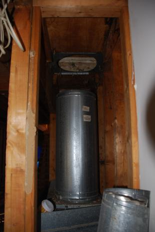 Old fireplace flue - almost time for demo