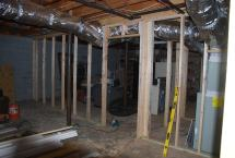 New Basement walls required by the Inspector