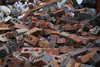 Brick graveyard - in the dumpster