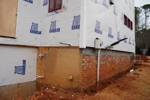 Back left corner - top brick 'soldier' course gone