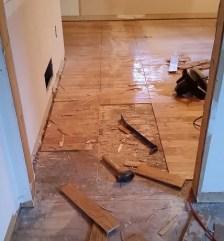 Stubborn hardwoods glued down