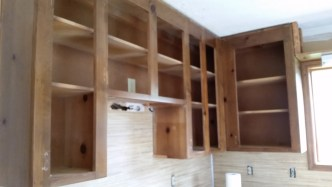 Kitchen Wall Cabinets Ready for Demo
