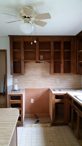 Kitchen Cabinet Doors and Drawers Removed