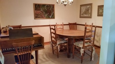 Dining Room and harpsichord