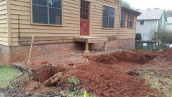 Footings dug for front porch