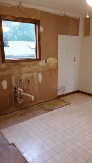 Kitchen sink cabinets gone