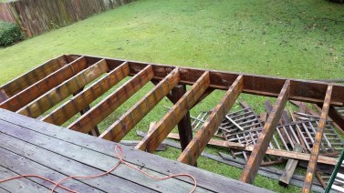 Deck boards partially gone
