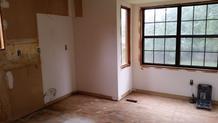 Kitchen Trim and Floor Removed