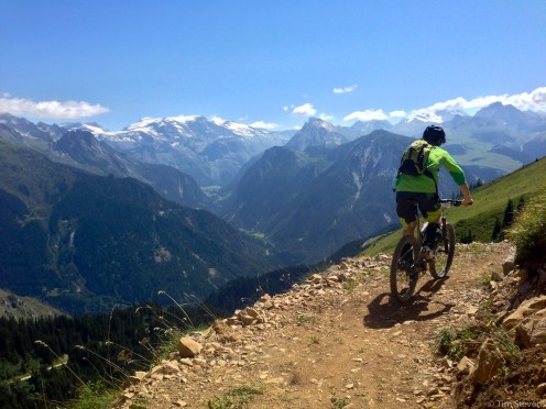 Grinding up one of the long climbs. Made worse by the high heat, made better by the amazing views.