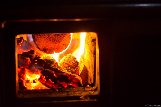 Wood burning stove. Simple cooking.