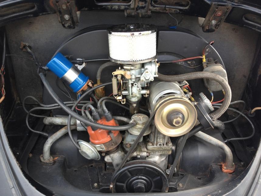 Painted My VW Beetle's Engine Coil Back To Blue! | 63 Ragtop VW Bug | Volkswagen Beetle Blog
