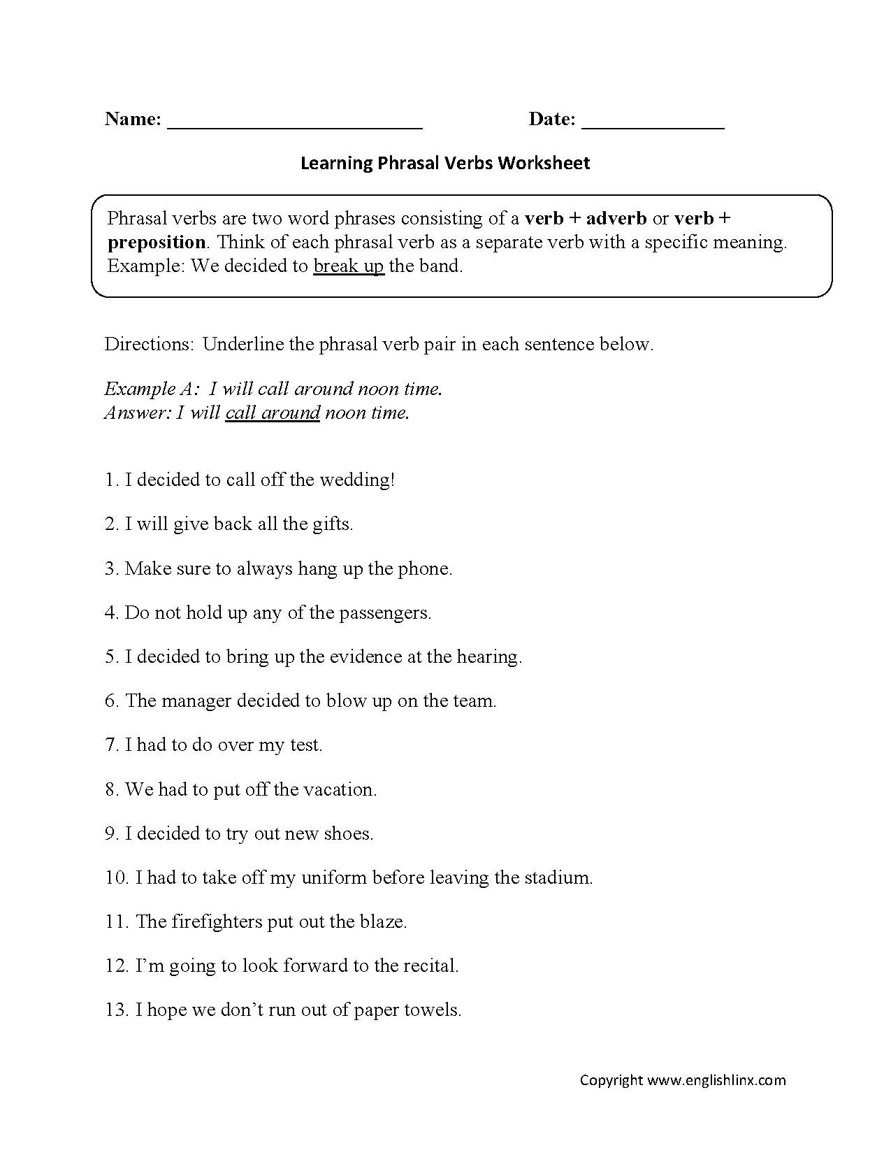 5th Grade Tenses Worksheets For Grade 5